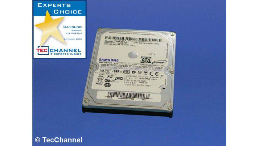 Samsung SpinPoint MP2 HM251JJ: 250 GByte Kapazität