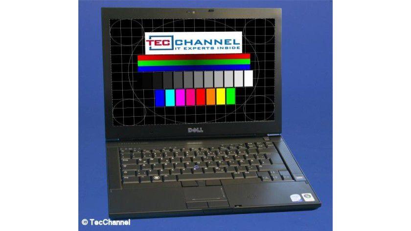 Dell Latitude E6400: Das 14,1-Zoll-Display des Testmodells arbeitet mit 1440 x 900 Bildpunkten.