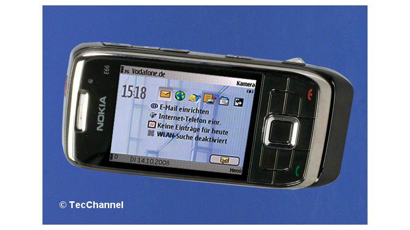 Lagesensor: Wird das Handy quer gehalten, schaltet die Ansicht um.