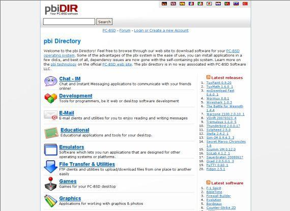 Mehr Software: Das PBI-Verzeichnis ist logisch aufgeteilt, und Sie finden viele bekannte und beliebte Software-Pakete.