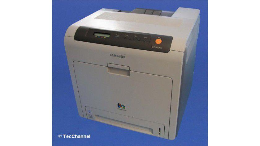 Samsung CLP-610ND: Der Drucker ist serienmäßig mit einer Duplex-Einheit ausgerüstet.