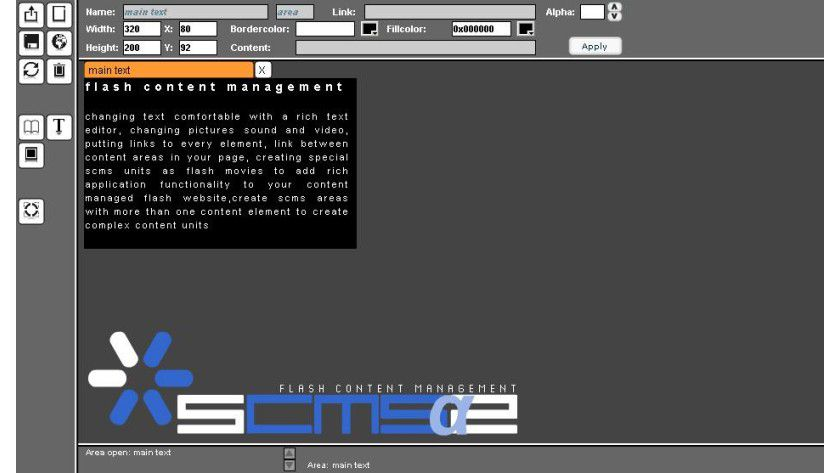 Neue Testumgebung für SCMS2 Flash CMS. Abb.: Skurrilewelt