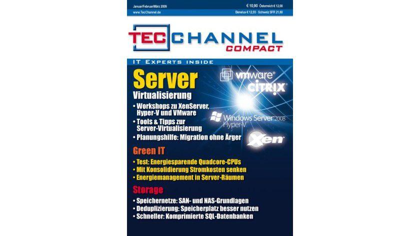 """Ab sofort online zu bestellen: Das neue TecChannel Compact 1/2009 mit dem Themenschwerpunkt """"Server-Virtualisierung""""."""