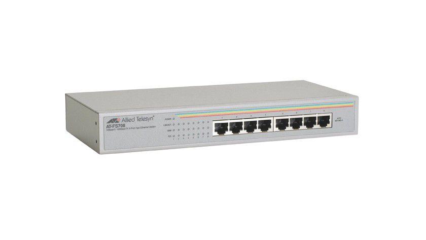 Sparmaßnahmen: Der AT-FS708 Switch verbraucht weniger Strom als sein Vorgänger. (Quelle: Allied Telesis)
