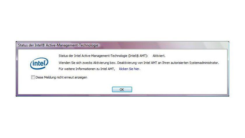 IAMT-aktiviert: Um den IT Director mit allen Funktionen zu nutzen, muss der Computer die Funktion Intel AMT unterstützen.