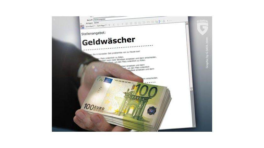 Traumjob Geldwäscher. Foto: G Data