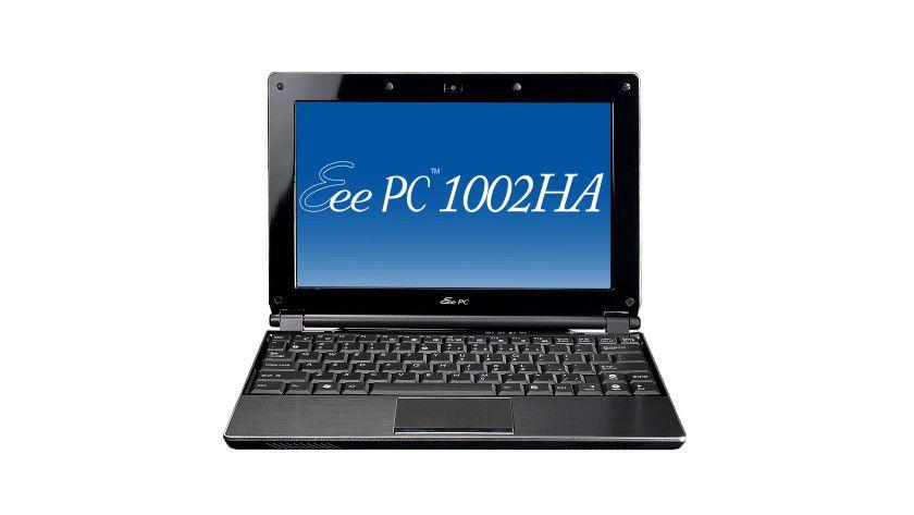 Eee PC 1002HA: Das 10-Zoll-Display des Edelstahl-Netbook arbeitet mit LED-Hintergrundbeleuchtung. (Quelle: Asus)