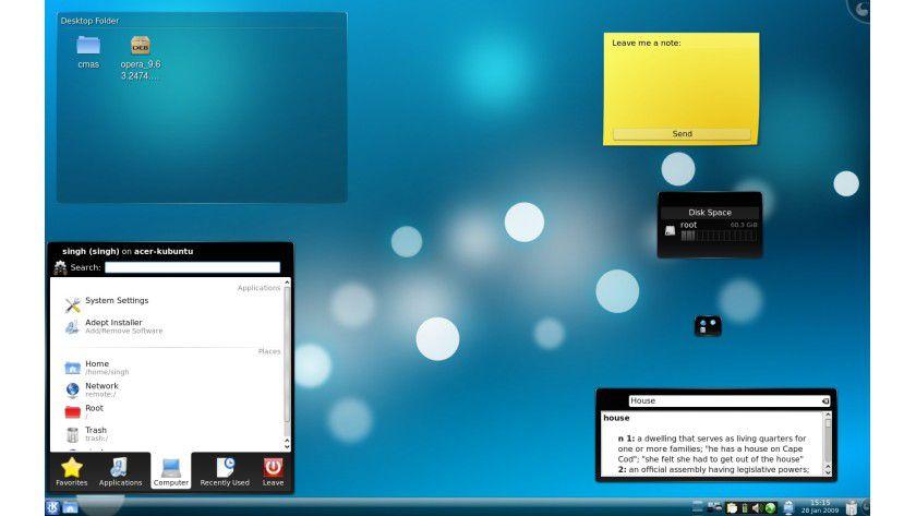 KDE 4.2: Neue Funktionen und flüssigeres Arbeiten versprechen die Entwickler.