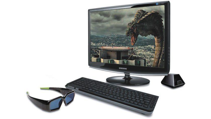 Samsung SyncMaster 2233RZ: Der 22-Zoll-Monitor arbeitet mit einer Bildwiederholfrequenz von bis zu 120 Hz und erlaubt in Verbindung mit einer entsprechenden 3D-Brille eine entsprechende Darstellung. (Quelle: Samsung)