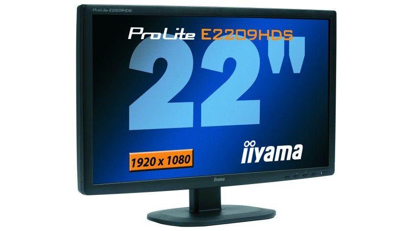 ProLite E2209HDS: Das 22-Zoll-Display arbeitet mit 1920 x 1080 Bildpunkten. (Quelle: Iiyama)