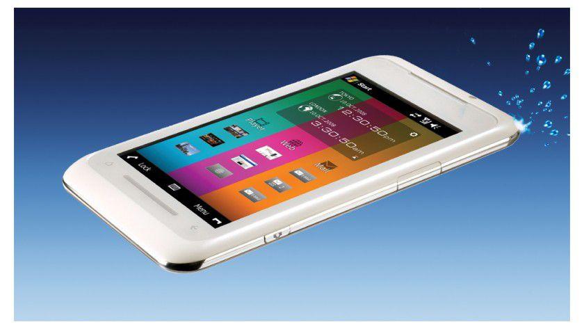 Dünner Touchscreen: Das TG01 ist gerade mal 9,9 mm dick. (Quelle: O2)