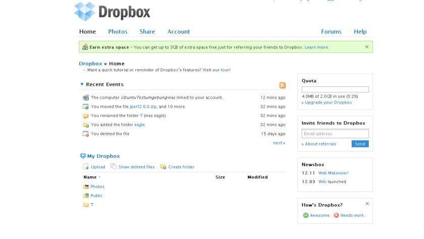 Dropbox: Das Tool synchronisiert Dateien über einen Web-Speicher.