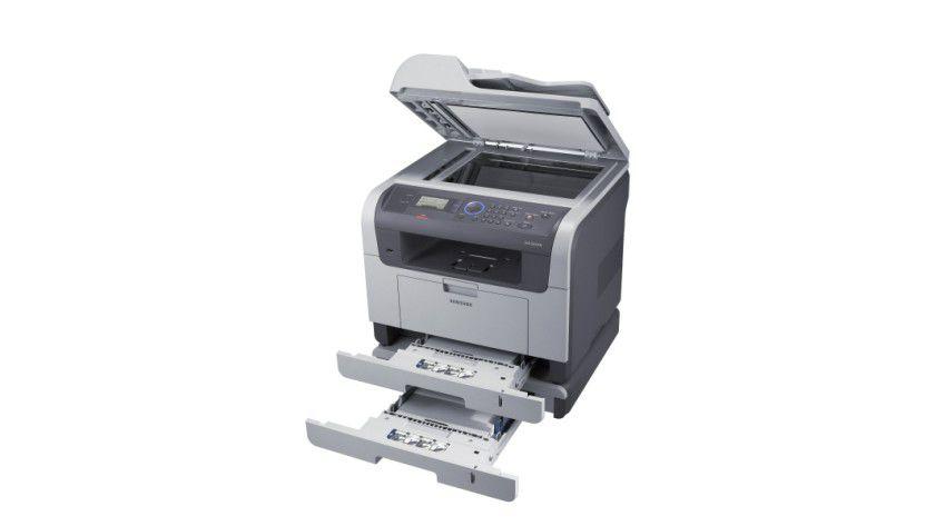 Skalierbarkeit: Optional lässt sich das Gerät um eine 550-Blatt-Kassette erweitern. (Quelle: Samsung)