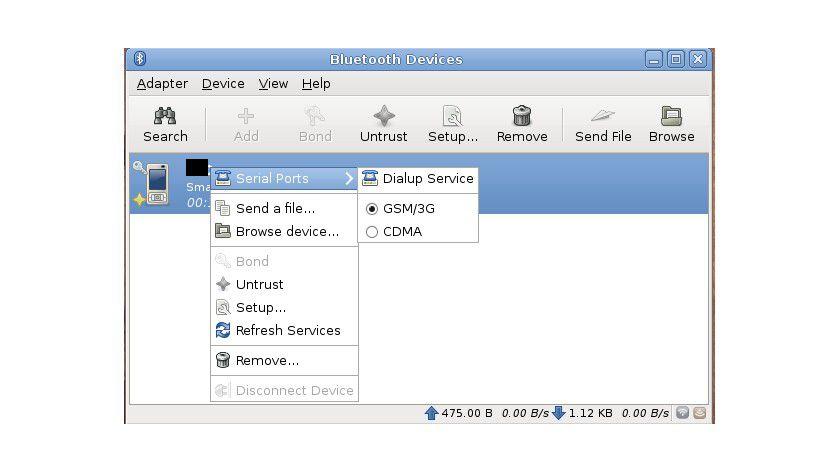 Bluetooth unter Linux: Blueman ist eine geschickte Alternative zum integrierten Bluetooth-Manager.