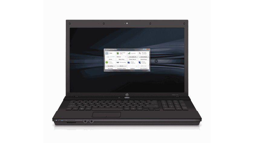 HP ProBook 4710S: Das 17-Zoll-Display arbeitet mit einer Auflösung von 1600 x 900 Bildpunkten. (Quelle: Hewlett Packard)