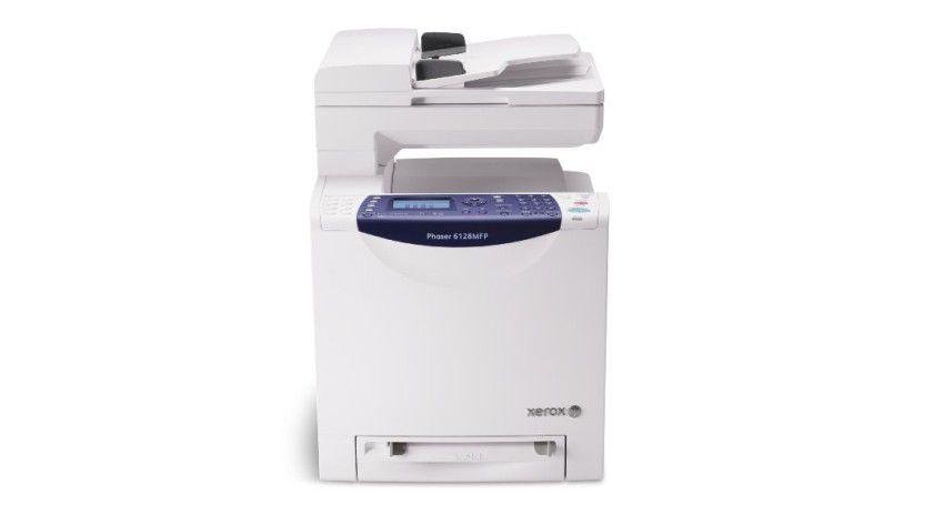 Xerox Phaser 6128MFP: Die Abmessungen des Farblaserkombis betragen 425 x 507 x 585 mm. (Quelle: Xerox)