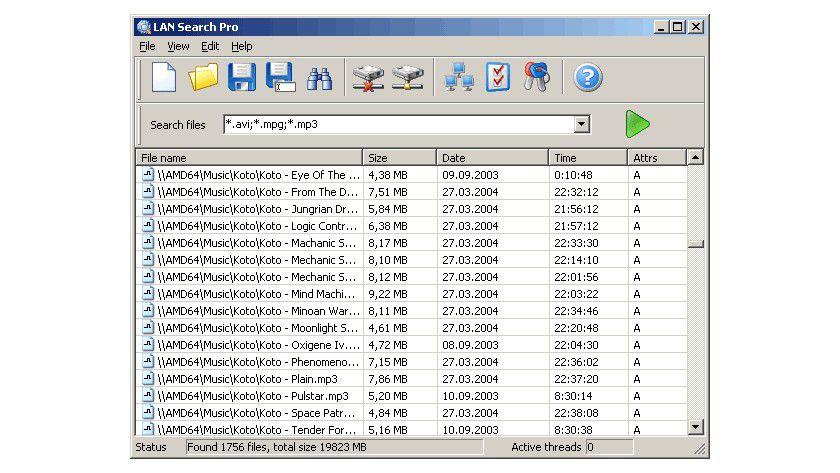 Freigaben: LAN Search Pro zeigt Ihnen alle freigegebenen Dateien im Netzwerk.