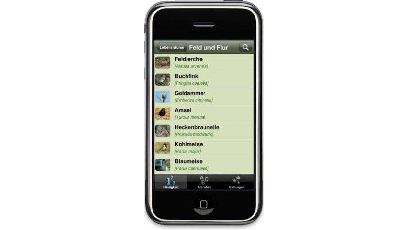 Erkennungshilfe: Der Vogelstimmen-Trainer unterstützt bei der Artenbestimmung.