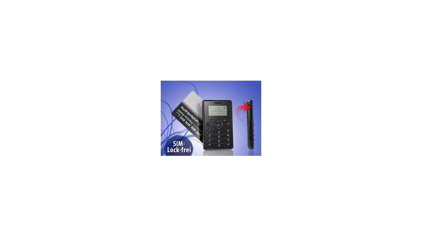 Nur 44 Gramm: Das Mini-Handy Slimvalley RX-80 Pico ist die ideale Ergänzung zum teueren Business-Handy.