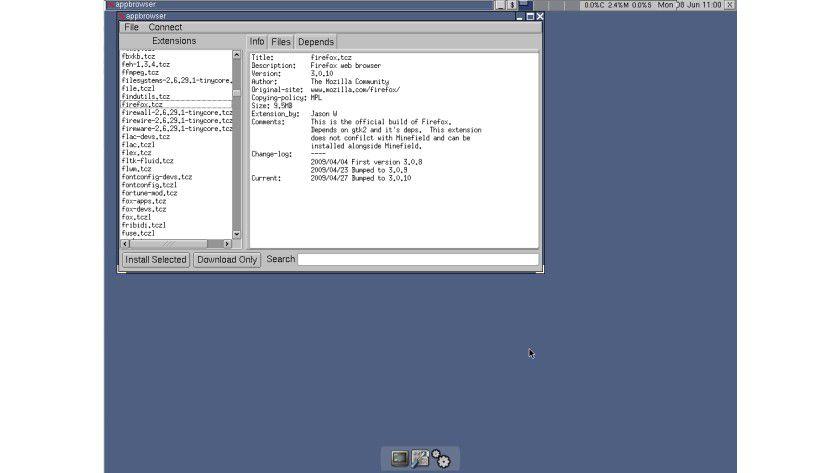 Minimalistisch: Allerdings lässt sich Tiny Core Linux gut erweitern.
