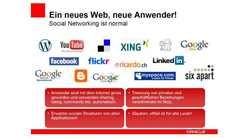 Netzwerk-Communities: CRM-Anbieter entdecken soziale Netze als Datenquelle (Quelle: Oracle).