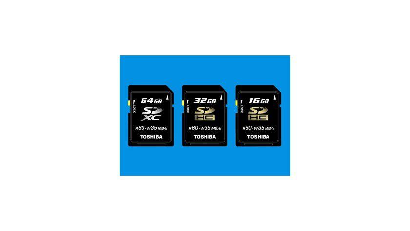 SDXC-Speicherkarte: Toshiba hat eine SDXC-Karte mit einer Kapazität von 64 GByte angekündigt. (Quelle: Toshiba)