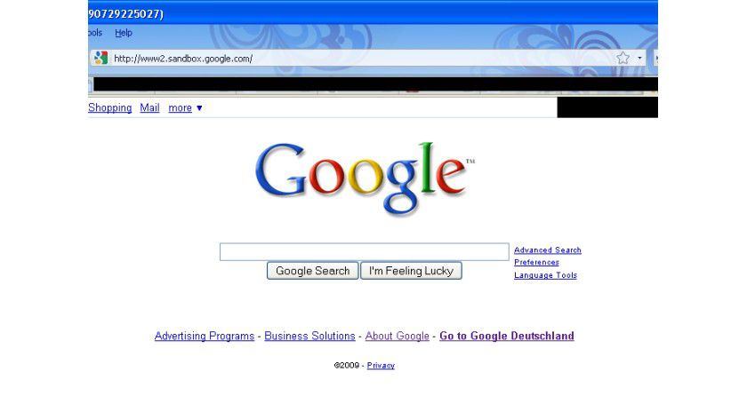 Äußerlich kein Unterschied: Nur die URL unterscheidet sich von der regulären Google-Suche.