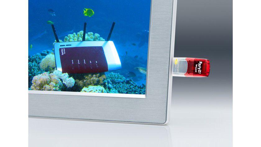AVM Streaming Stick: Der USB-Stick liefert drahtlos Inhalte von lokalen oder Internet-Speichern. (Quelle:AVM)
