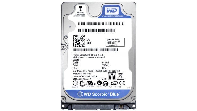 Western Digital Scorpio Blue: Das Mobile-Drive arbeitet mit 5400 U/min und bietet 640 GByte Kapazität. (Quelle: Western Digital)