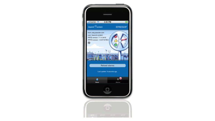 Zum Server telefonieren: iPRTG empfängt Statusmeldungen vom Netzwerkmanagement.