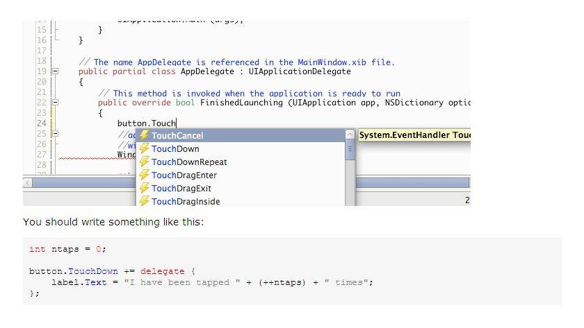 Schritt 2: Ein paar Zeilen C#-Code.