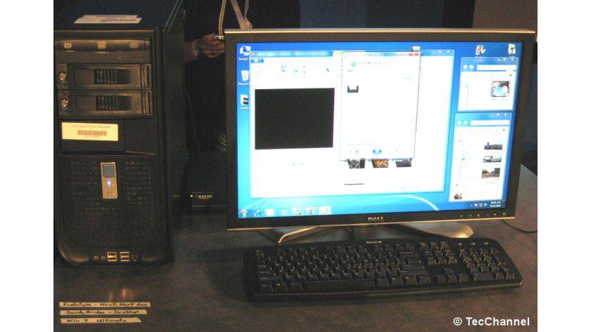 Übernächste CPU-Generation: Intel demonstriert den Betrieb einer Sandy-Bridge-CPU mit Windows 7 Ultimate.