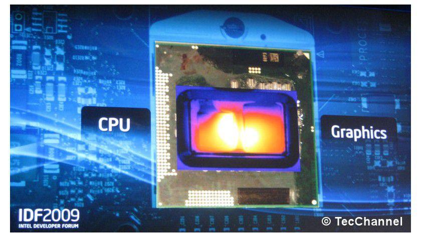 Hotspots: Wird die TDP des Prozessors nicht ausgenutzt, so kann Arrandale auch den Grafik-Core per Turbo Mode übertakten.