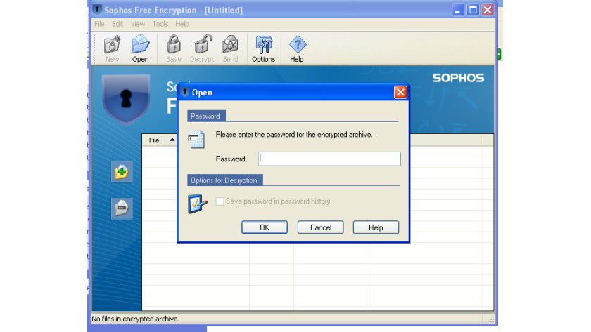 Unsichtbar: Ohne Passwort bleibt der Inhalt des Archivs unsichtbar.