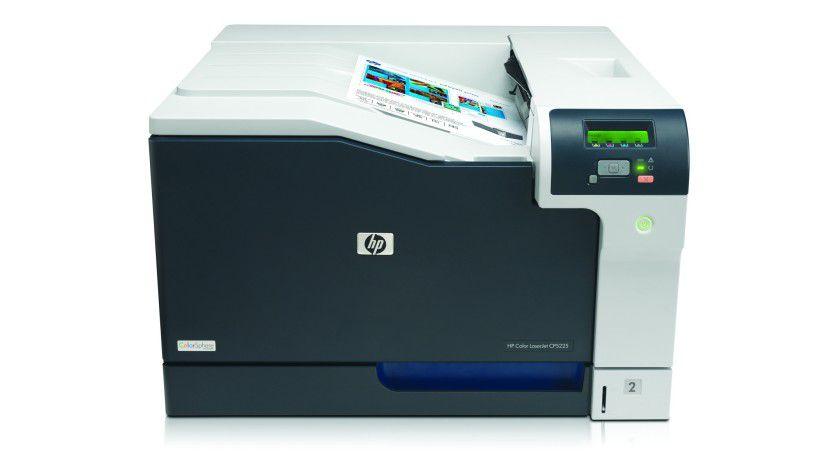 HP Color LaserJet CP5225: Der Farblaser verarbeitet Medien im A3-Format. (Quelle: Hewlett Packard)