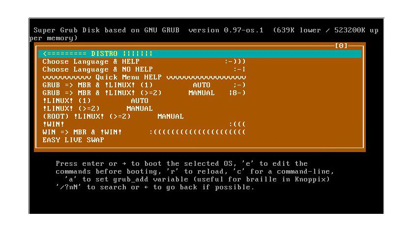 Super Grub Disk: Für das Reparieren des Bootloaders.