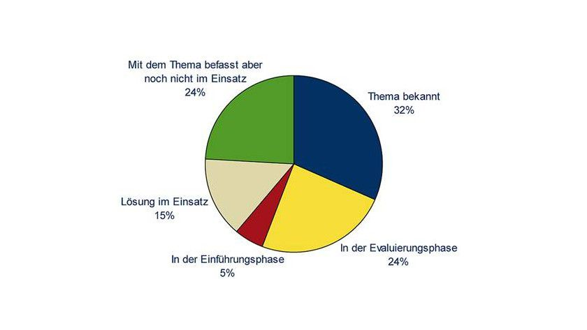 SaaS: Im Jahr 2008 besitzt Storage-as-a-Service in Westeuropa die dargestellte Verbreitung. (Quelle: IDC)