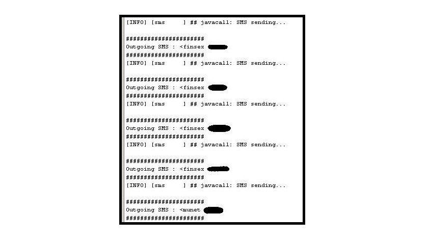 Detailinformation: Ein Ausschnitt der Log-Datei von Koobface. (Quelle: McAfee)