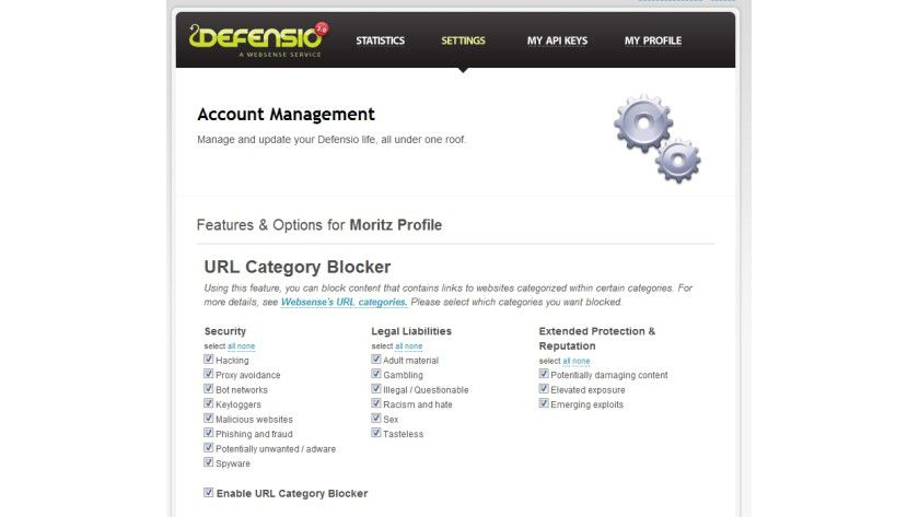 Web-Filter: Defensio schützt Websites, Blogs und Facebook-Profile vor unerwünschten Einträgen oder bösartigen Links.
