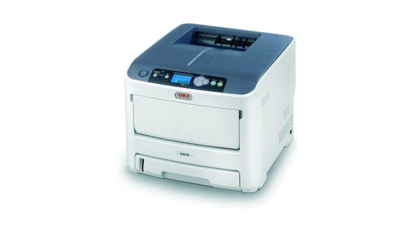 Oki C610: Der netzwerkfähige Farbdrucker mit LED-Druckwerk soll bis zu 34 Farbseiten pro Minute produzieren. (Quelle: Oki)