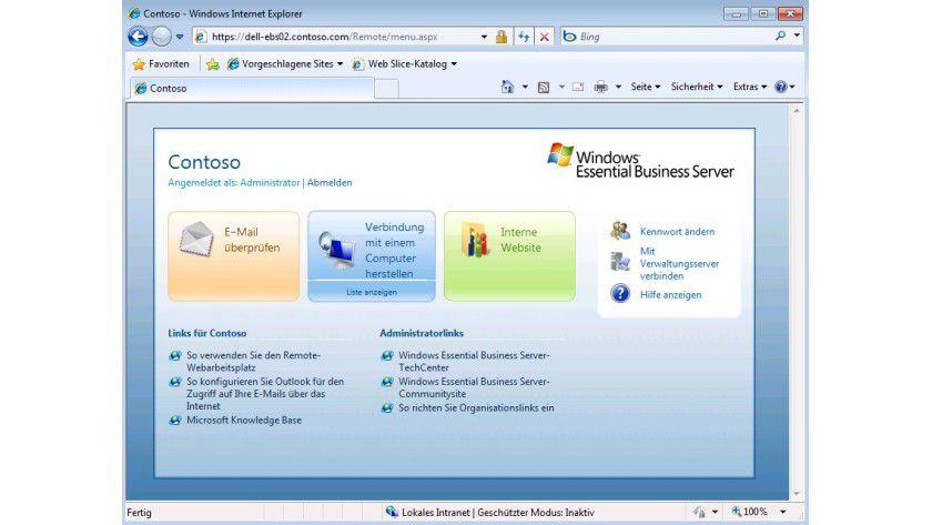 Integration: Nach der Installation des Add-ins für SharePoint ist auch der Remote-Arbeitsplatz erweitert worden.