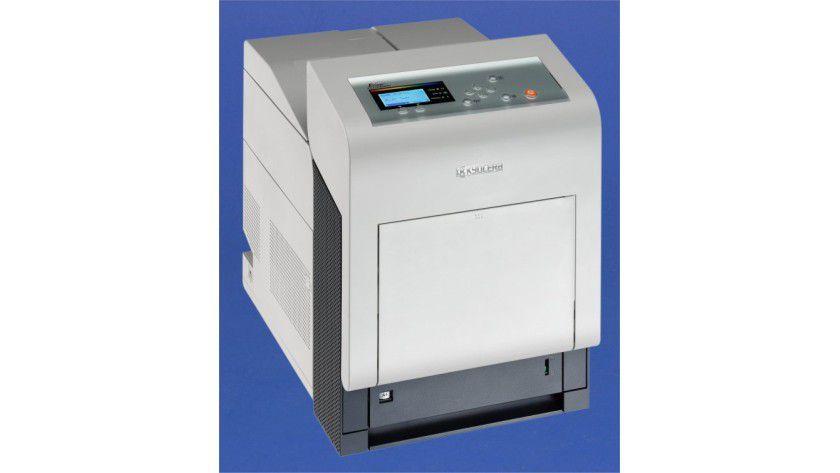 Kyocera FS-C5400DN: Das Druckwerk ist für 35 Farb- oder SW-Seiten pro Minute ausgelegt.