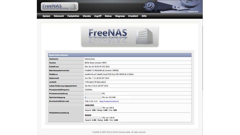 FreeNAS: ein freier, kostenloser NAS-Server.