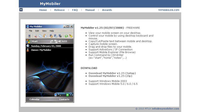 My Mobiler: Das kostenlose Tool können Sie unter www.mtux.com downloaden.