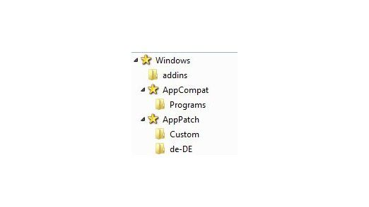 Kennzeichnung: Für geöffnete Ordner lassen sich eigene Icons verwenden - hier im Beispiel ein Stern.