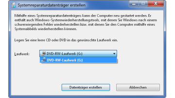 Recovery-Funktionen von Windows 7