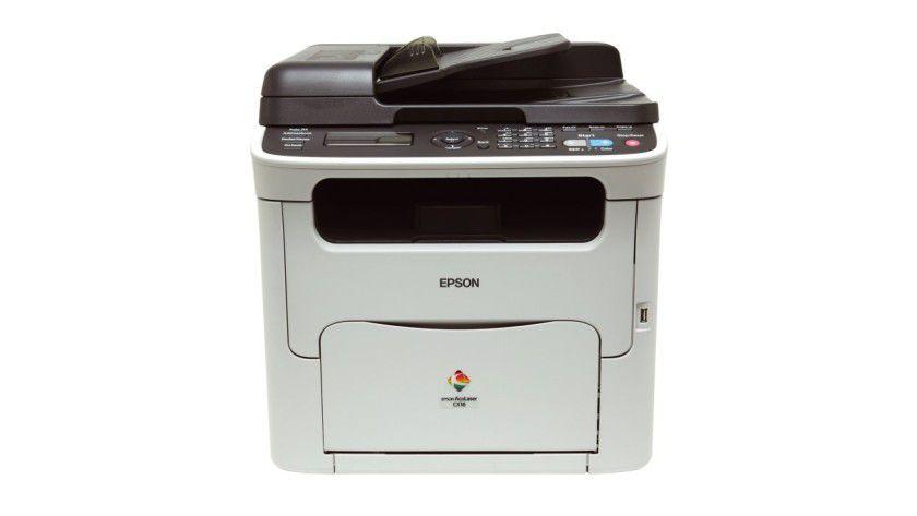 """Epson AcuLaser CX16NF: Das """"NF""""-Modell bringt Faxfunktion, Vorlageneinzug und Netzwerkschnittstelle mit. (Quelle: Epson)"""
