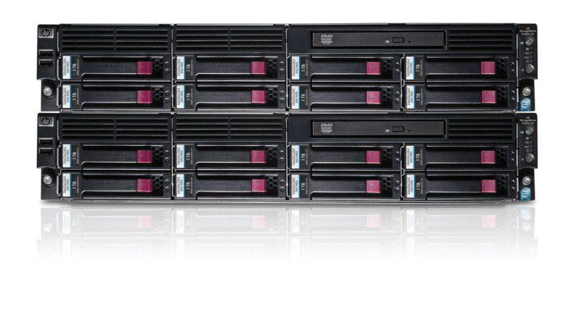 Storage satt: Die Netzwerkspeicherlösung StorageWorks P4300 von HP basiert auf der iSCSI-Technologie. (Quelle: HP)