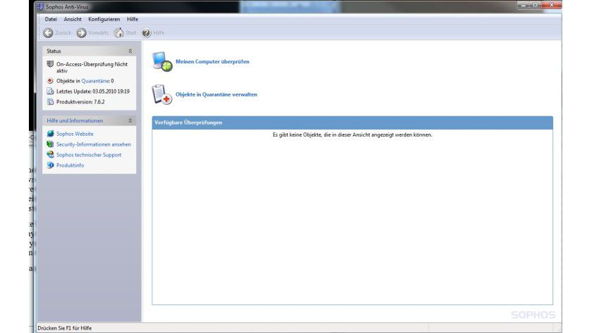 Anti-Virus: Sophos Threat Detection Test ist für die Überprüfung eines PCs gedacht.