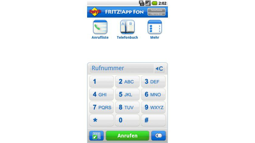 WLAN-Telefon: Mit der Fritz!App Fon lassen sich Smartphones via WLAN an der Fritz!Box als Festnetztelefon nutzen.